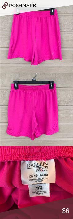 Danskin Girls Size 14-16 Hot Pink Shorts Gently Worn - Still in Good Condition Danskin Now Bottoms Shorts