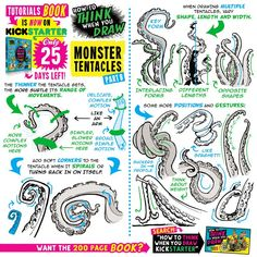 Media Tweets by EtheringtonBrothers (@EtheringtonBros) | Twitter Drawing Lessons, Drawing Tips, Drawing Reference, Art Lessons, Octopus Drawing, Octopus Art, Octopus Tentacles, You Draw, Learn To Draw