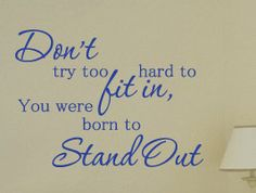 Vinyl Wall Sticker Art Saying Decor Decal Quote Inspirational Stand Out I38. $27.97, via Etsy.