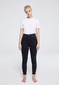 ARMEDANGELS | Inga Denims / 5 Pockets Skinny Solid - washed down black Slim Fit, Skinny Fit, Black Denim, Shopping, Fitness, Cotton, How To Wear, Pants, Pockets