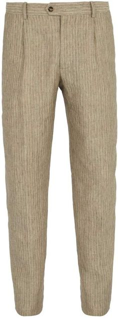 ÉDITIONS M.R Francois striped linen trousers