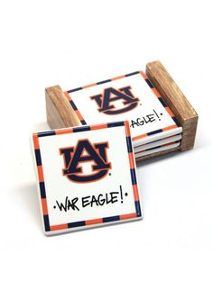 Auburn Ceramic Coaster Set