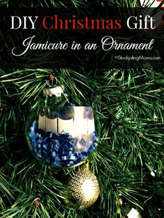 DIY Christmas Gift - Jamicure in an Ornament you can make it in five minutes or less!