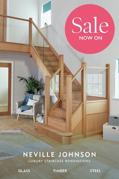 Home Stairs Design, Interior Stairs, House Design, Oak Stairs, House Stairs, Luxury Staircase, Aircraft Interiors, House Extension Design, Hallway Designs