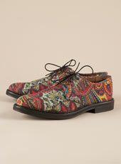 """Paisley"" Printed Postman Shoe @Cameron Fredrickson"