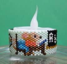 Instant Download! Mouse At School Tea Light Cover Pattern