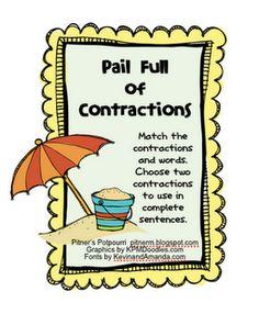 2nd Grade ELA Common Core aligned contraction practice