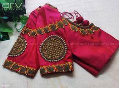 Cutwork Blouse Designs, Pattu Saree Blouse Designs, Stylish Blouse Design, Fancy Blouse Designs, Bridal Blouse Designs, Blouse Neck Designs, Hand Embroidery Design Patterns, Aari Embroidery, Embroidery Works