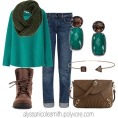 """""""Casual Top and Infinity Scarf"""" by alyssanicolesmith on Polyvore"""