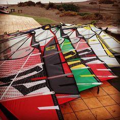 End of season sail check :) #windsurf #windsurfing #naish #sails