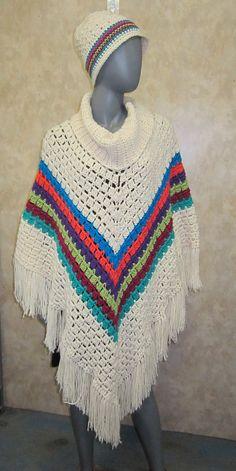 Sporty Poncho By Salena Baca - Free Crochet Pattern - (ravelry)