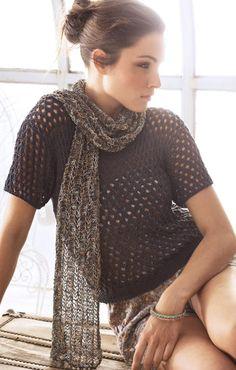 LANA GROSSA: Filati Handstrick 52 Modelle 38 & 39: Shirt (Secondo) & Schal (Secondo Print)