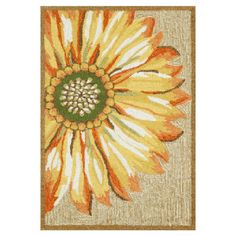 Hand-tufted indoor/outdoor rug with a floral design.   Product: RugConstruction Material: Polyester and acrylic...