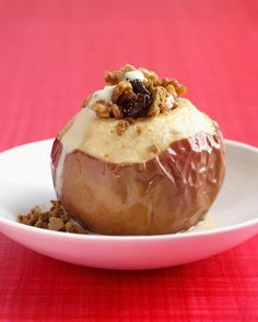 Baked Apples with Dried Cherries  and Maple Syrup Recipe