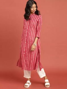 To place order DM us or whatsapp on 6394837380 Kurti Neck Designs, Kurta Designs Women, Blouse Designs, Simple Dresses, Casual Dresses, Fashion Dresses, Women's Fashion, Indian Attire, Indian Outfits