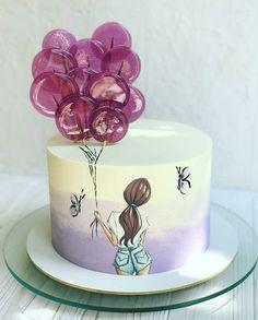 Sweet 16 Birthday Cake, Beautiful Birthday Cakes, Birthday Cake Girls, Beautiful Cake Pictures, Beautiful Cake Designs, Beautiful Cakes, Cake Decorating Frosting, Easy Cake Decorating, Dumbo Cake