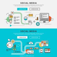 ソーシャルメディアグラフィックバナー 無料ベクター