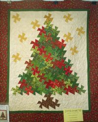 Lil' Twister Christmas Tree Pattern | Christmas Tree Pinwheel Twist PT - Quilting Possibilities