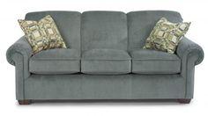 Main Street Fabric Sofa by #Flexsteel via Flexsteel.com. Photo features Main Street Sofa 5988-30 in 759-40