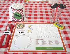 """""""Papa's Pizzeria"""" - moustaches and pizza party? Dinner Party Decorations, Dinner Themes, Decoration Table, Party Themes, Party Ideas, Italian Themed Parties, Italian Party, Italian Night, Pizza Party"""