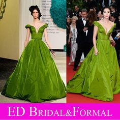 zhang yuqi green ballgown - Google Search