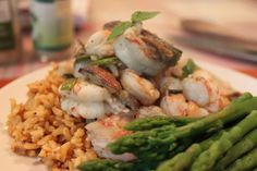 6 Pack Abs Meals | Spicy Shrimp with Figs, Asparagus  Brown Rice
