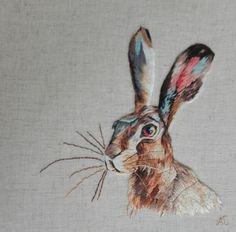 Peinture à l'aiguille réalisée par Anne