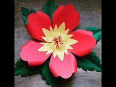 Montagem flor de papel-  modelo 13 - YouTube
