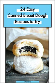 Canned Biscuit Dough Recipes: Baked Deep-Fried Oreos Pilsbury Biscuit Recipes, Grand Biscuit Recipes, Biscuit Dough Recipes, Pillsbury Recipes, Fried Biscuits, Sausage Biscuits, Canned Biscuits, Breakfast Biscuits, Breakfast Dishes