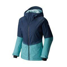 Mountain Hardwear W Returnia jacket from Sports Basement. Size S, color: zinc + spruce blue, $125