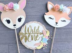 Woodland Decorations Wild One Birthday Woodland Animal | Etsy