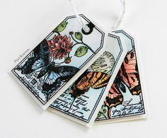 Peets Scrapalbum: Butterfly Tags