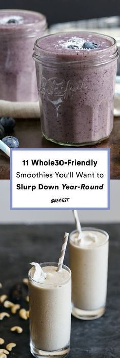 We're not saying to drink a smoothie every day when doing Whole30, but when it's time for a fast and easy meal that helps you stick to the Whole30 diet, get out your blenders and make these Whole30 smoothie recipes.