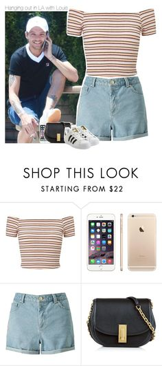 """""""Hanging out in LA with Louis"""" by perfectharry ❤ liked on Polyvore featuring Miss Selfridge, Marc Jacobs and adidas Originals"""