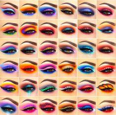 New Pattern Makeup Eyes Glamierre Enchanted Eyeshadow Palette eye makeup patterns - Eye Makeup Makeup Eye Looks, Eye Makeup Steps, Eye Makeup Art, Colorful Eye Makeup, Beautiful Eye Makeup, Makeup Inspo, Eyeshadow Makeup, Makeup Inspiration, Makeup Eyes