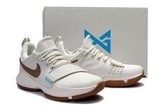 695920379d3 New Young Nike PG 1 Ivory Oatmeal Gum Light Brown Vivid Sky Big Boys  Basketball Shoes