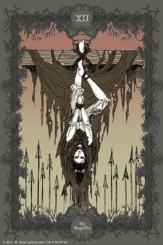 The Hanged Man Tarot card by M. Hanged Man Tarot, The Hanged Man, Tarot Cards Major Arcana, Tarot Card Spreads, Fanart, Tarot Card Meanings, Tarot Readers, Oracle Cards, Tarot Decks