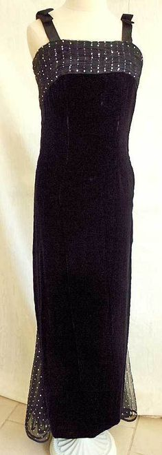Valentino Night Vintage 90s Velvet Ballgown Gown Corset Bow Net Diamond Train | eBay