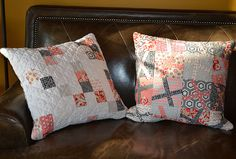 Pillows by shecanquilt, via Flickr
