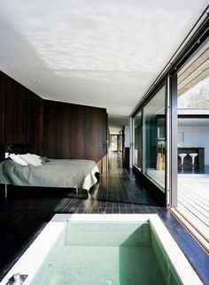 Exterior - Elegant Bathroom Ideas With Fresh Water In H House That Bed Design With Nice Pillows Feat Flower Decor: Elegant Swedish House Design Ideas with Wooden Exterior