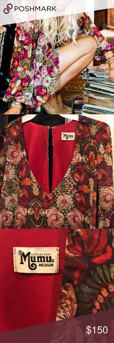 Show Me Your Mumu Donna Michelle Like New!! Floral tunic or dress! Beautiful print! Show Me Your MuMu Tops Tunics
