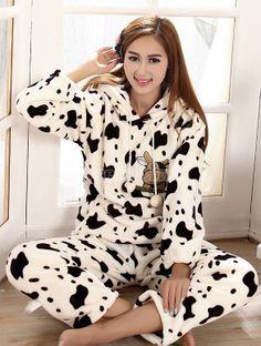 Women's Warm Soft 2 Piece Pajama Warm Home Wear