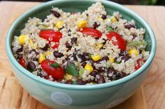 Fiesta Quinoa Salad (Daniel Fast, substitute the chicken broth with vegetable broth)