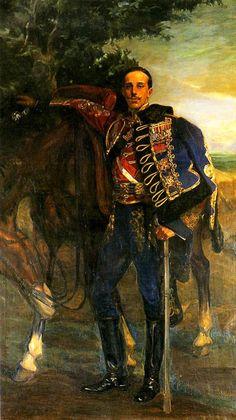 King Alfonso XIII in Hussar uniform