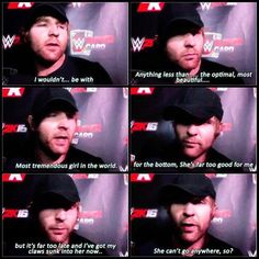 Dean Ambrose talking about his girlfriend My Character in my story. <3 *Nota  Fan of Renée Young.
