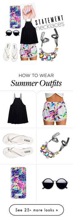 """Total date night look or summer day outfit"" by mjeankuhn on Polyvore featuring Aéropostale, Lilly Pulitzer and statementnecklaces"