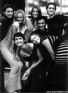 "Monsieur Alaïa (amongst the Glamazons including Yaz Le Bon and Gail Elliott) is a giant in so many ways. ""Well, Monsieur Léger, who created those bandage dresses under his own label in the '80s to much success, lost control of his company and the right to use his name in the late '90s. The Hervé Léger website says that the BCBG Max Azria Group bought it in1998 and Léger, who now runs a successful design business under Hervé L. Leroux says it was 1999, according to his own website."""