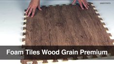 Top Features: -Fabulous wood grain look -Soft, cushioned feel -Waterproof -Fast and easy interlocking DIY installation -Two border strips included with each tile -Available in a variety of wood grains color options -Lead free and latex free2x2 foot squares Use Types: Basement Wood Foam Tiles, Interlocking Faux Wood Flooring, Home Wood Look Foam Mats