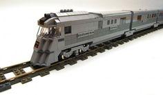 Lego Zephyr, early streamlined train.