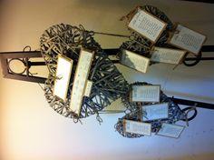 wicker heart rustic wedding table plan